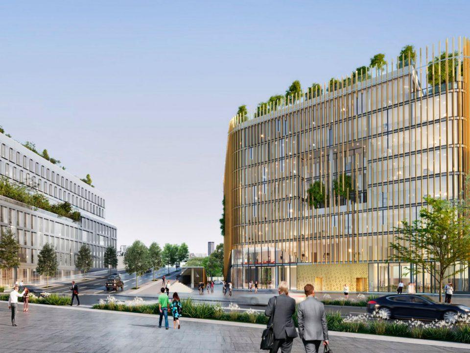 La envolvente de la futura sede corporativa del BNP Paribas, el banco nacional de Francia, llevará el sello del Grupo Aluman.